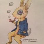 Art Blog: Monocle Bunny